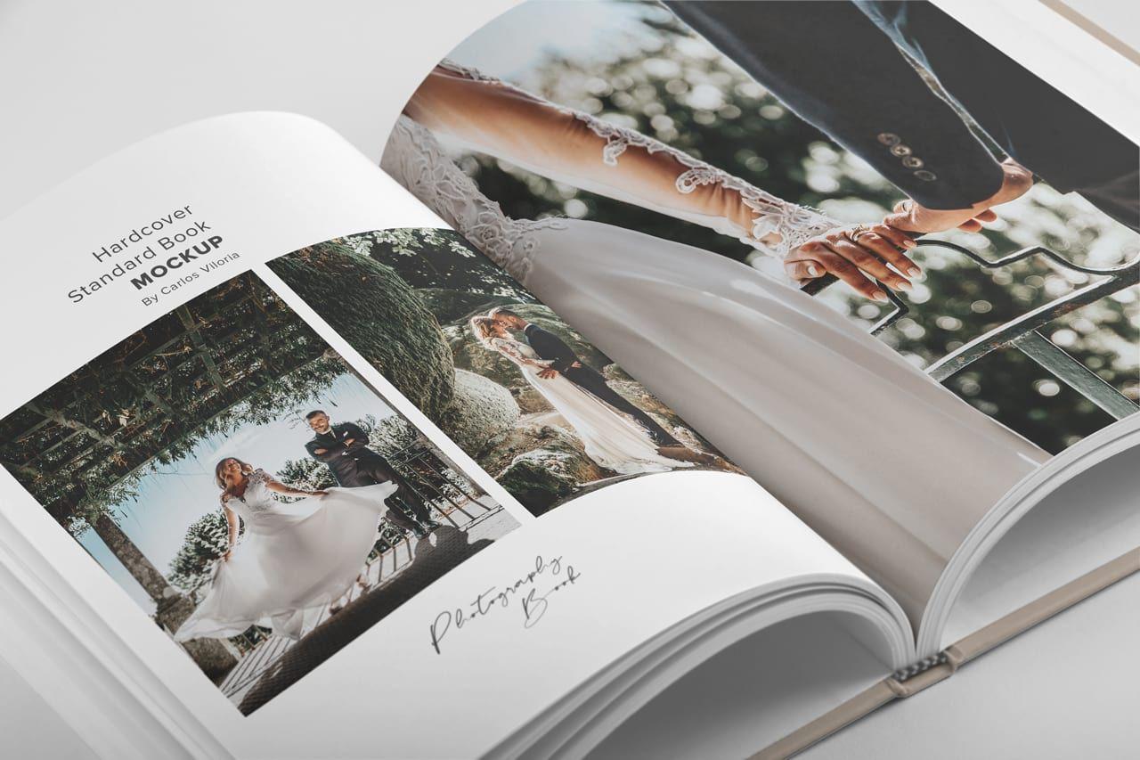 Download Hardcover Photography Book Mockup 01 Carlos Viloria In 2020 Hardcover Photo Book Photo Book Stationery Mockup PSD Mockup Templates