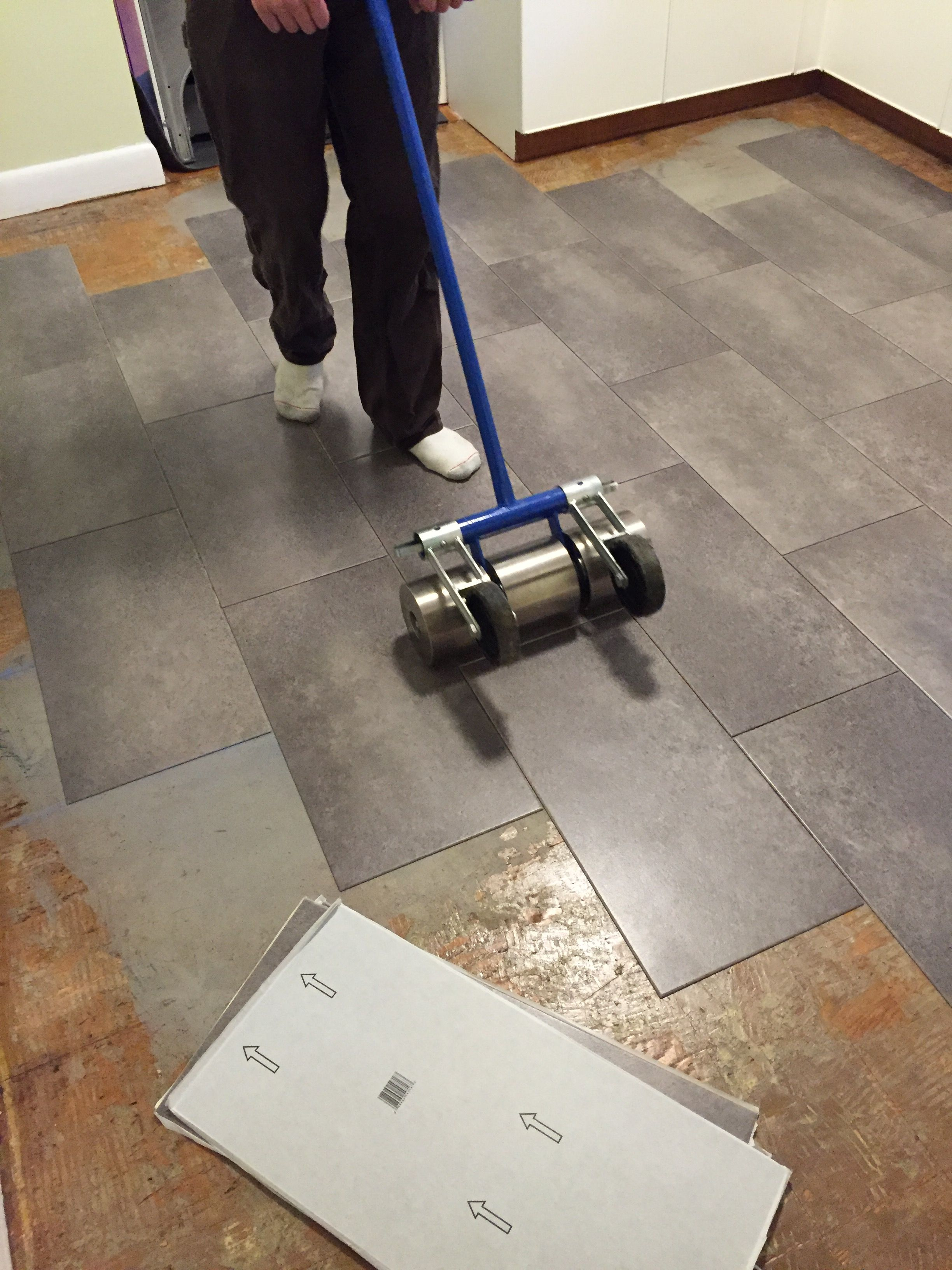 Installing Peel And Stick Vinyl Tile For Realists Diy Flooring Vinyl Flooring Peel And Stick Floor