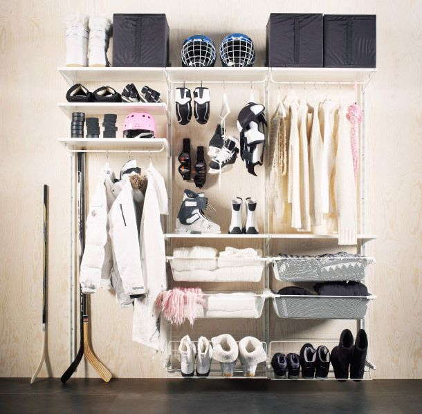 eine aufbewahrungsl sung nach ma bietet den perfekten platz f r jeden winterartikel egal ob. Black Bedroom Furniture Sets. Home Design Ideas