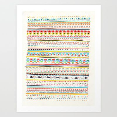 "Sandra Dieckmann, Pattern No.2; gallery quality giclée print on natural white, matte, ultra smooth, 100% cotton rag, acid and lignin free archival paper using Epson K3 archival inks, custom trimmed with 2"" border for framing; 21 x 17 inches; $28.00"