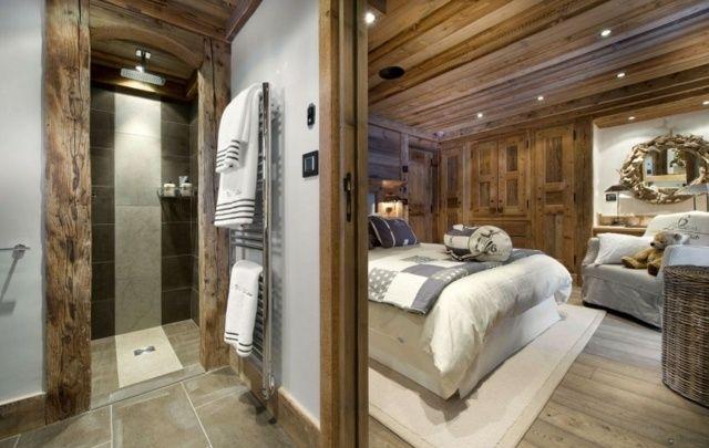 Badezimmer In Stein Fliesen Verkleidet Gastezimmer Luxus Lodge