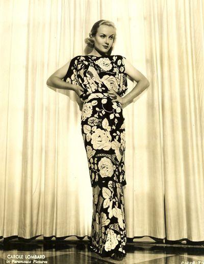 Elegant print dress 1935