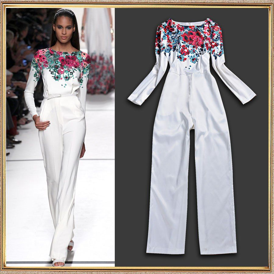 High Quality Europe Brand Runway Jumpsuit 2014 New Spring Women ...