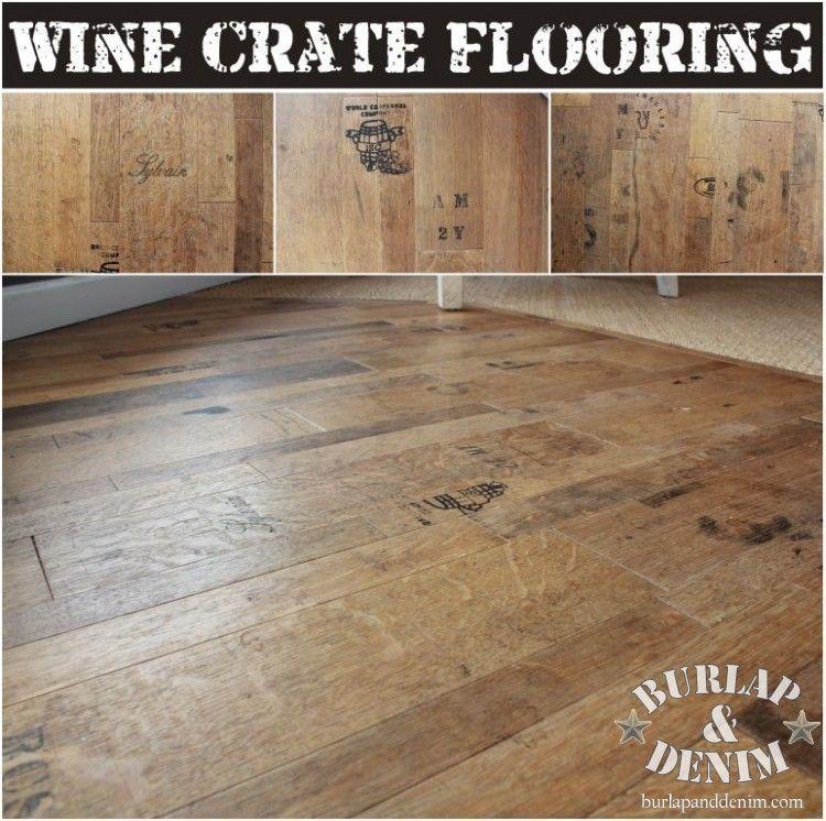 Wine Crate Flooring | Shopping with Burlap & Denim