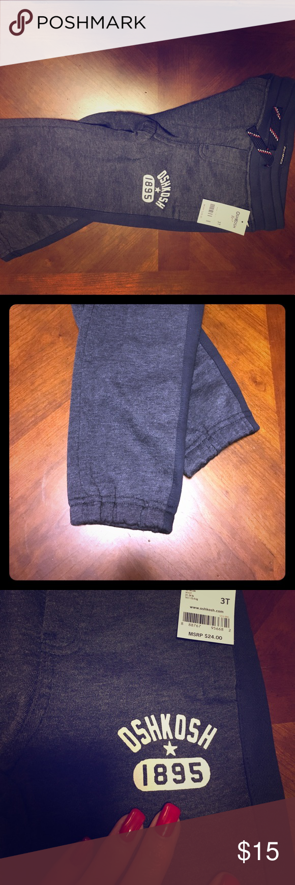 OshKosh Boys Navy Blue Sweatpants | Drawstring waist, Navy stripes ...