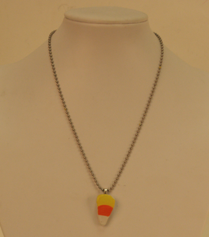Hand-painted candy corn necklace by I Heart Louisiana- catch it at Krewe of Boo in New Orleans.