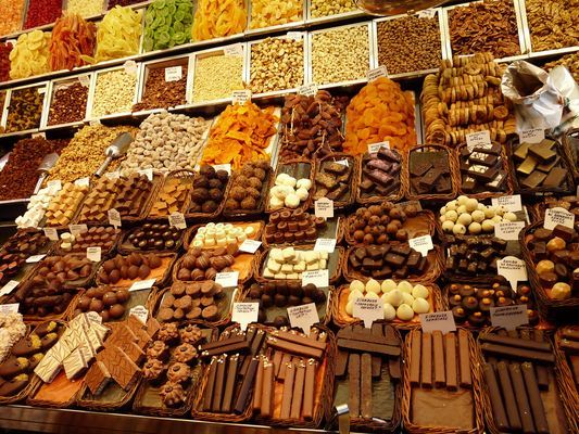 chocolates at Boqueria