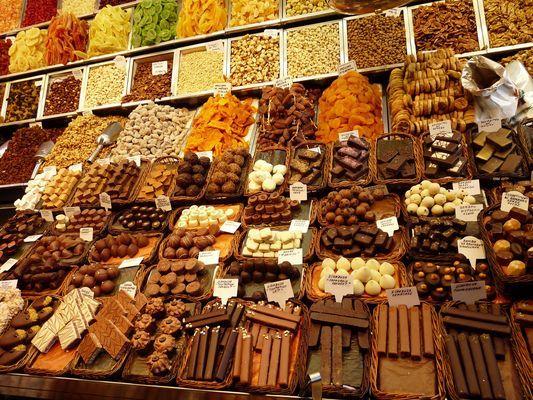 chocolates at Boqueria