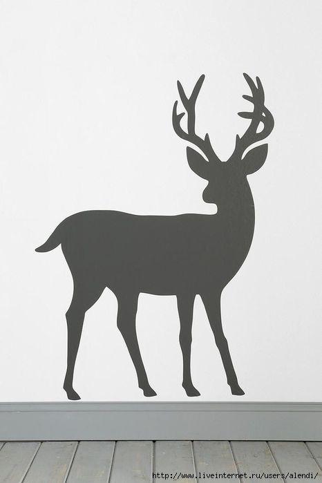 Картинки, картинки оленей для вырезания