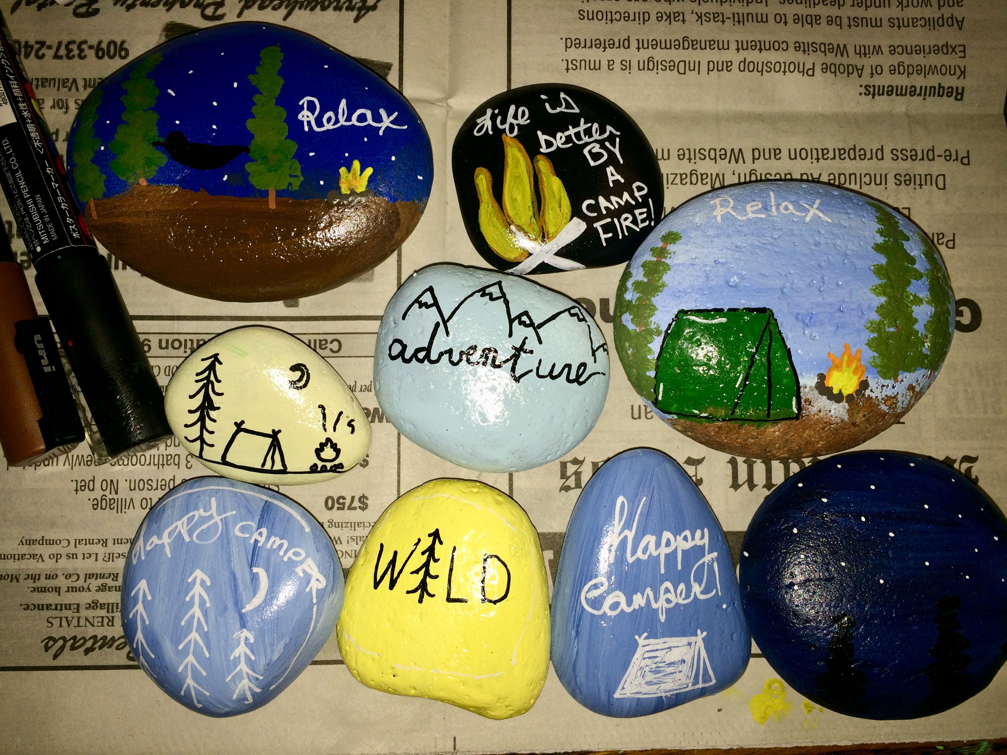 Camping Tent Explore Get Outside Painted Rocks Rimrocks