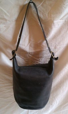 Vintage Coach Large Bucket Duffle Hobo Shoulder Bag Purse Black ... 19ae067978a15