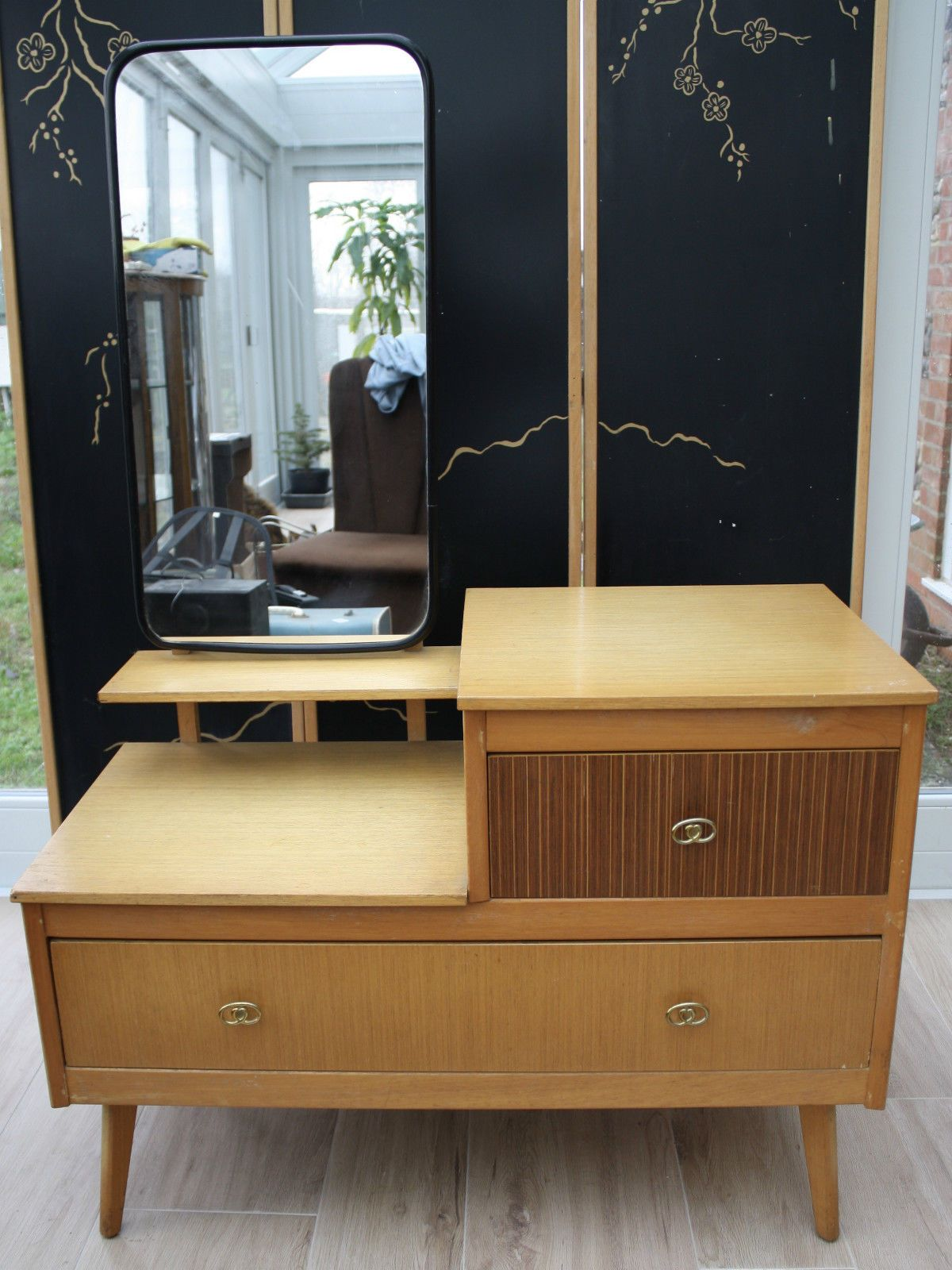 VINTAGE 1950s DRESSING TABLE/CHEST OF DRAWERS eBay