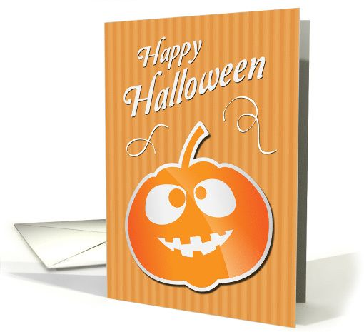 Pumpkin with funny face and swirls for halloween card pumpkin with funny face and swirls for halloween card greetingcarduniverse comjjbdesigns greetingcard m4hsunfo