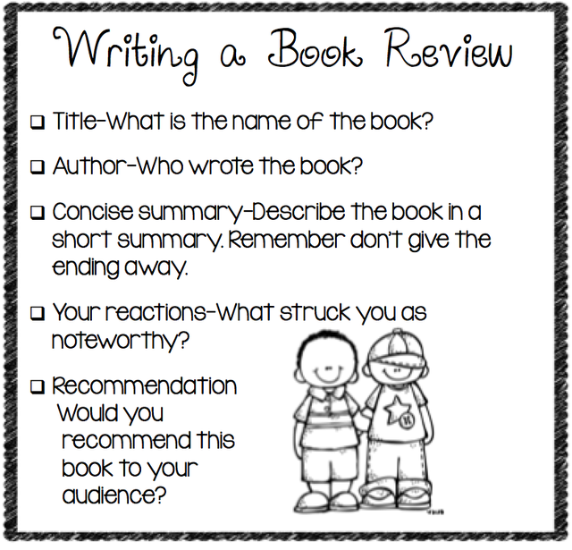 how to write a good book review