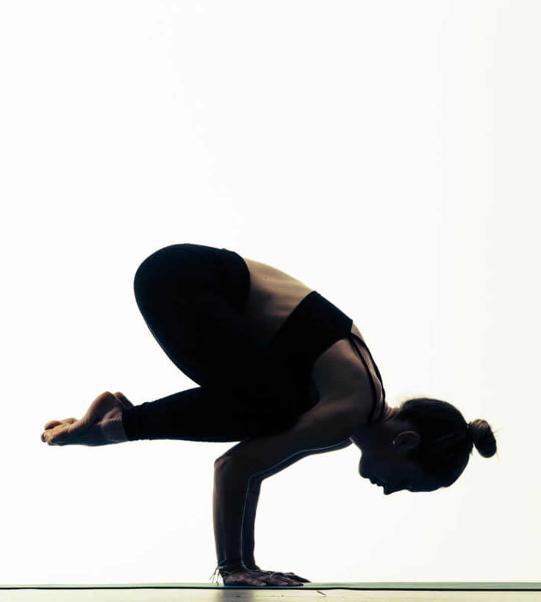 Crow Pose. Bakasana. Yoga.