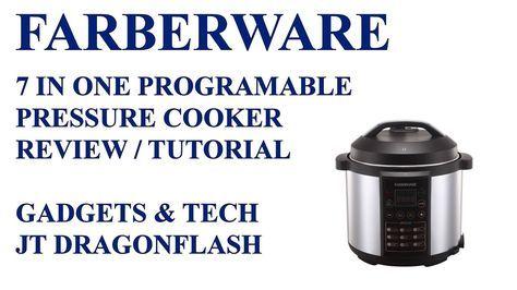 Farberware 7 In One Electric Pressure Cooker Review Tutorial Youtube Pressure Cooker Reviews