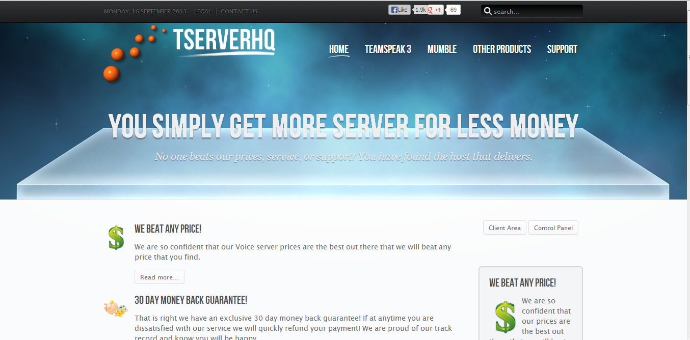 http://tserverhq.com/mumble-server Mumble servers with the absolute maximum voice quality and lowest prices guaranteed. You won't find a better hosting company for your mumble needs.