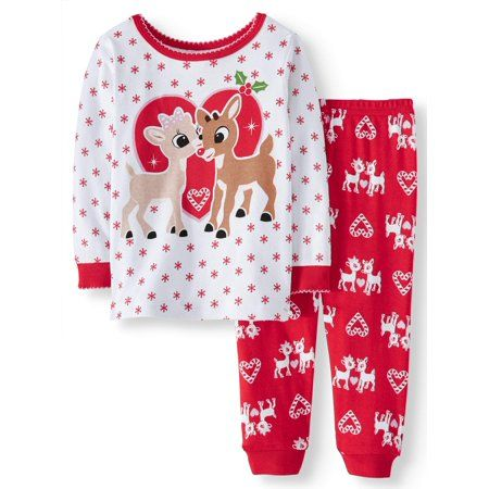 MINNIE MOUSE Toddler Girls FLANNEL Pajamas 2 Piece Set Pants Long Sleeves Disney