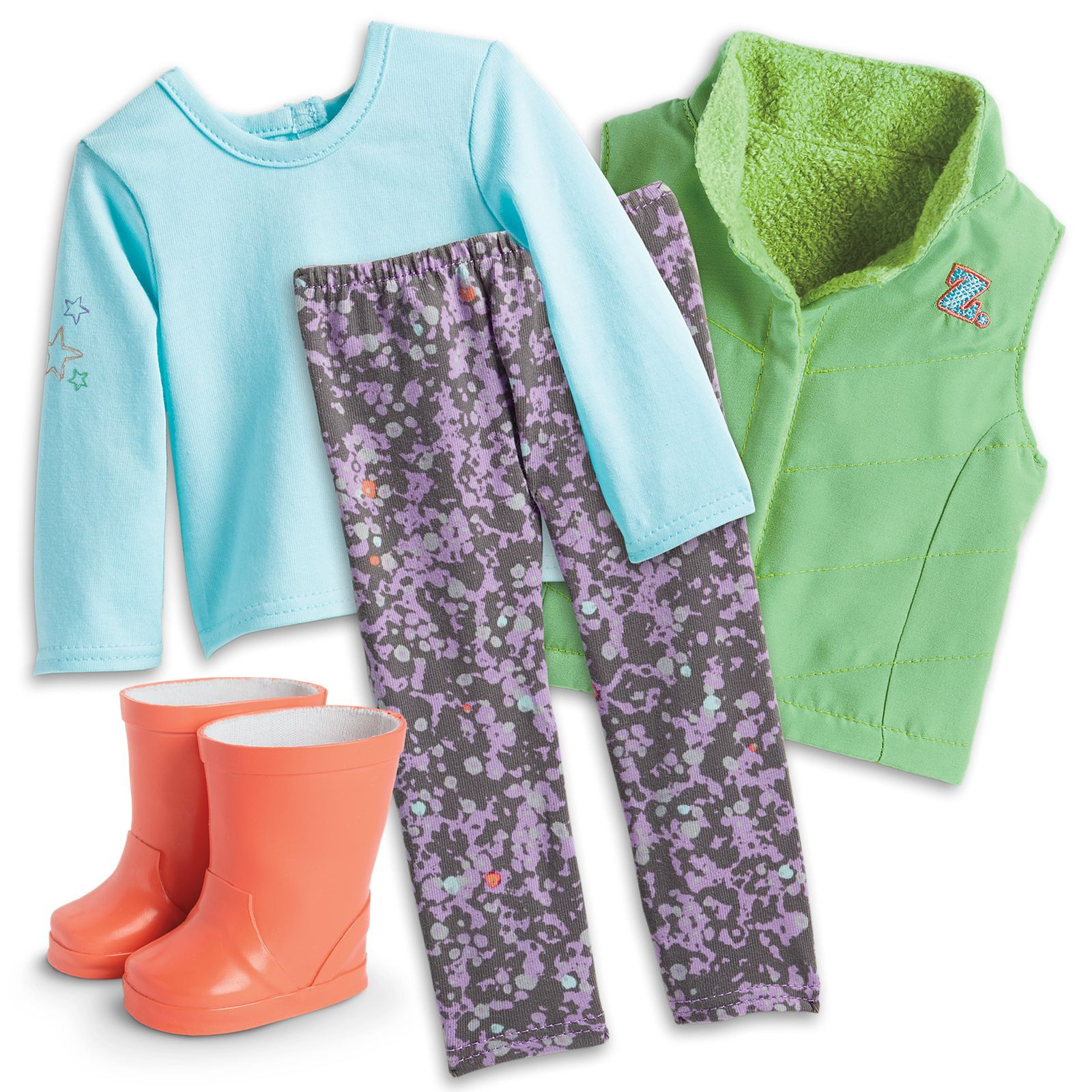 Z\'s Rainy Day Outfit for 18-inch Dolls