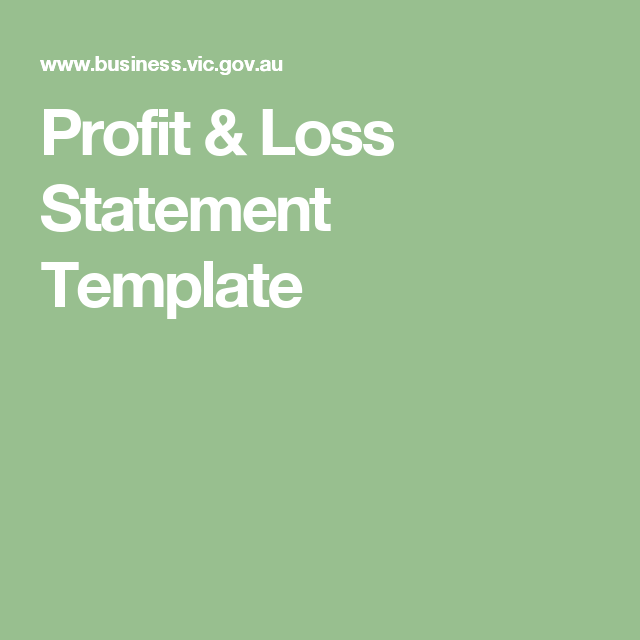 Profit  Loss Statement Template  Help Self Employed Payroll Tax