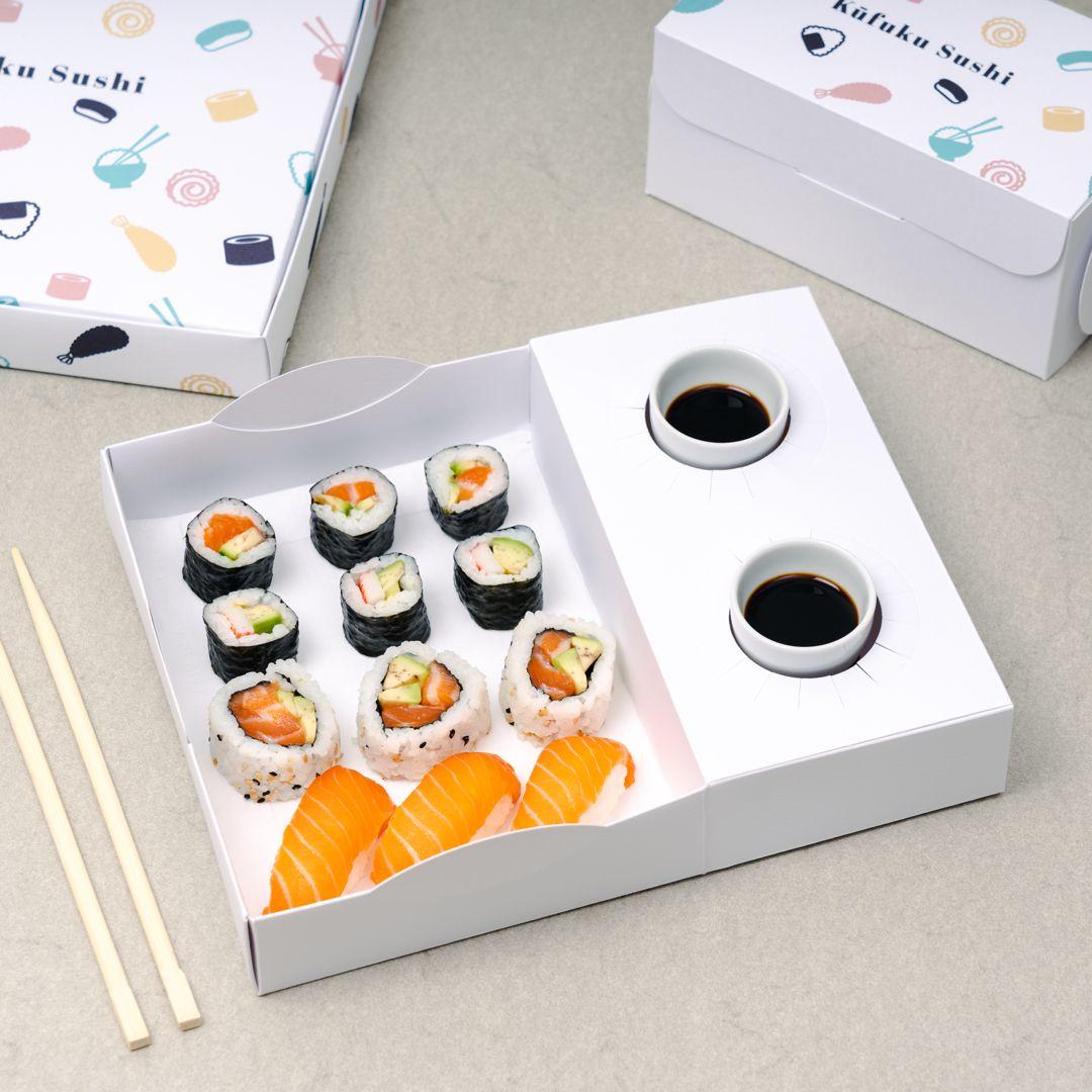 Descubre Las Nuevas Cajas Para Sushi Personalizadas De Selfpackaging Envases De Comida Para Llevar Diseño De Envases Para Alimentos Diseño De Sushi