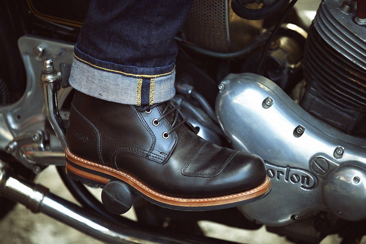 Black Held Nashville Leather Motorcycle Motorbike Boots