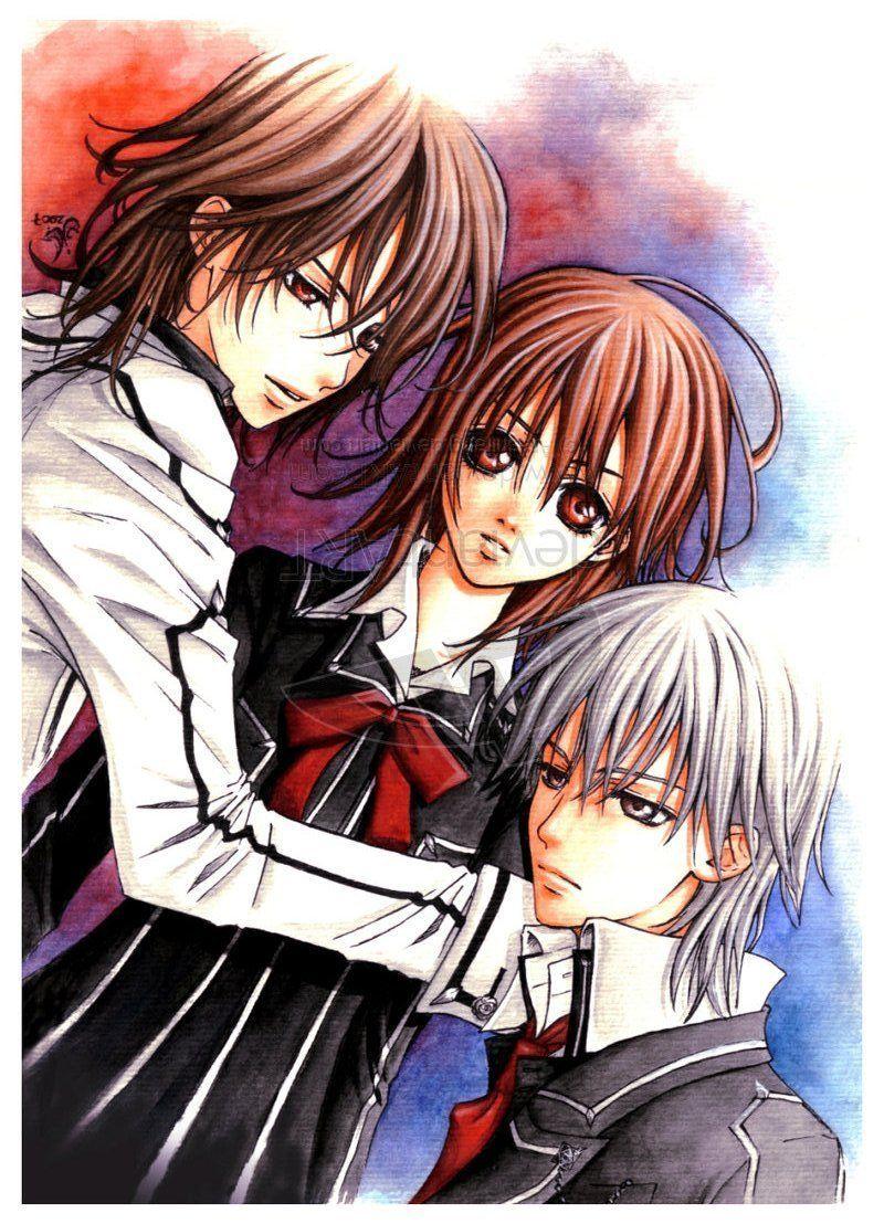 Vampire Knight Zero, Yuki, and Kaname Vampire knight