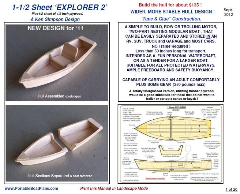Portable Boat Plans Boat Plans Plywood Boat Plans Build Your Own Boat