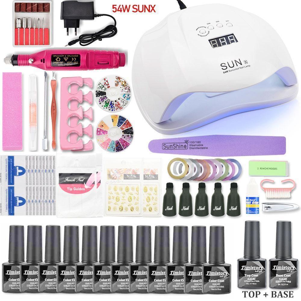 Nail Set UV LED Lamp Dryer Acrylic nail kit, Nail polish