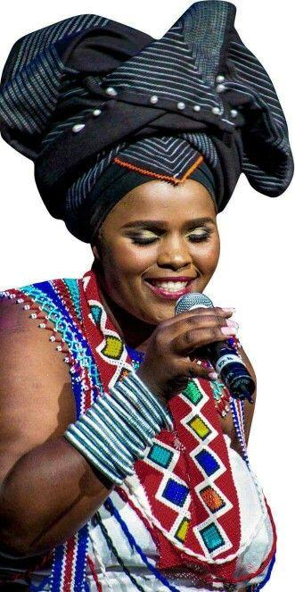 Praise poet jessica mbangeni in iconic xhosa headgear afrochic praise poet jessica mbangeni in iconic xhosa headgear ccuart Gallery