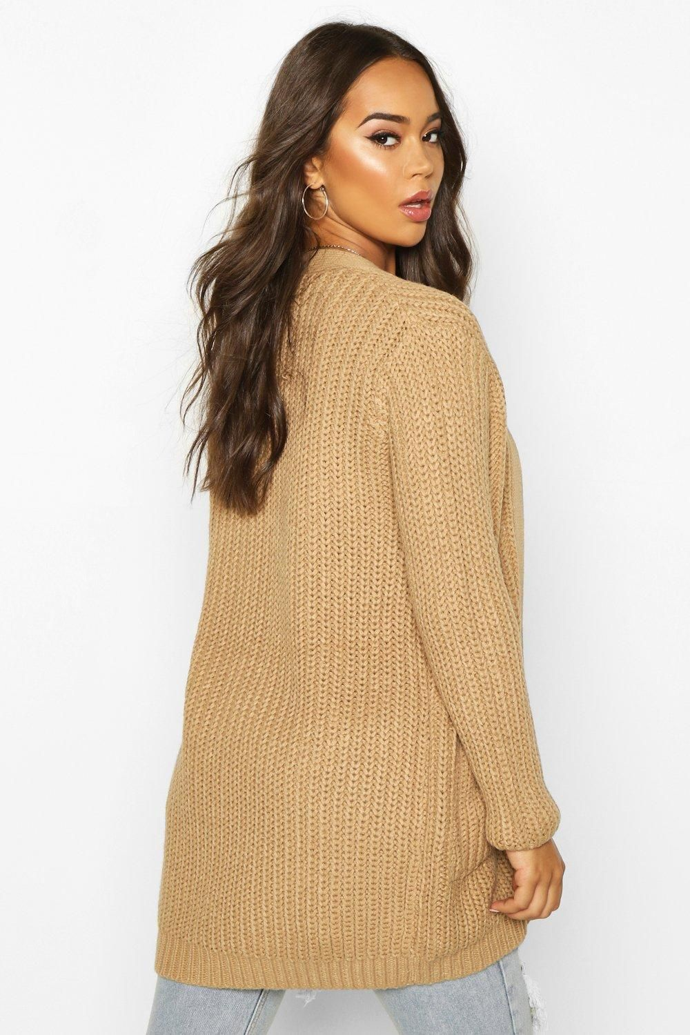 Chunky Cardigan With Pockets | boohoo