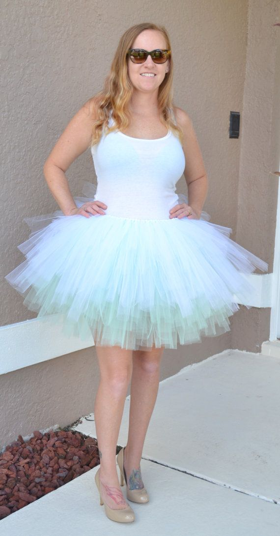 Ladies White TUTU SKIRT Diamante Sequins Bride to Be Hen Party Ballet 3 Layers
