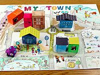 Making map and buildings - use houses and signs from other posts.  This would be a good project for peer tutoring activity - would have to span several sessions and could use it for teaching between growth spurts.