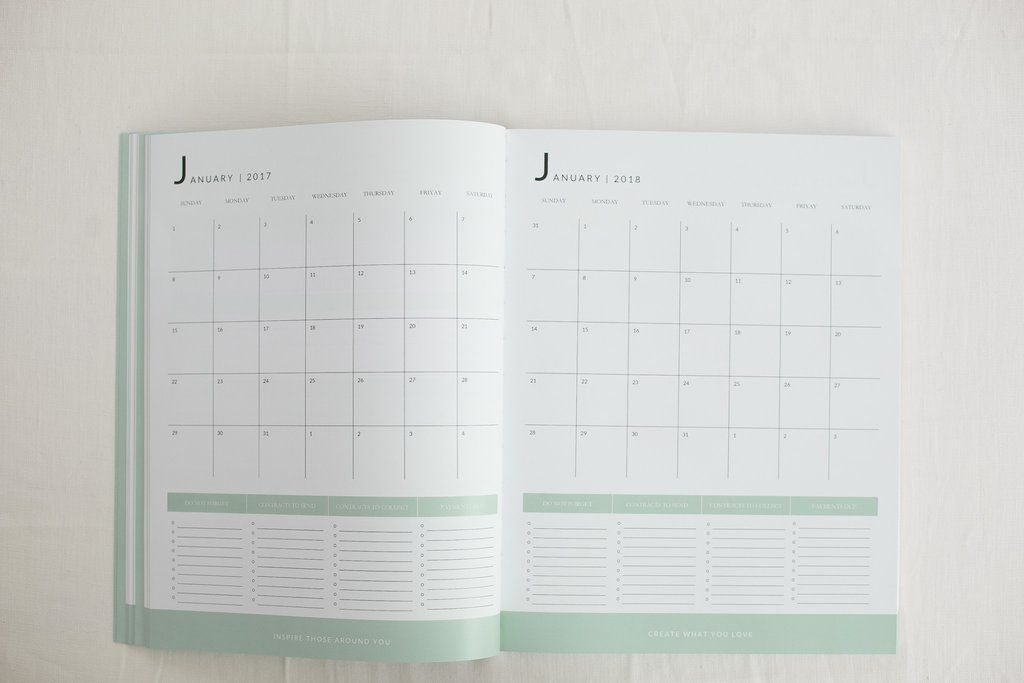 Green complete photography business planner 2018-2020 Photography
