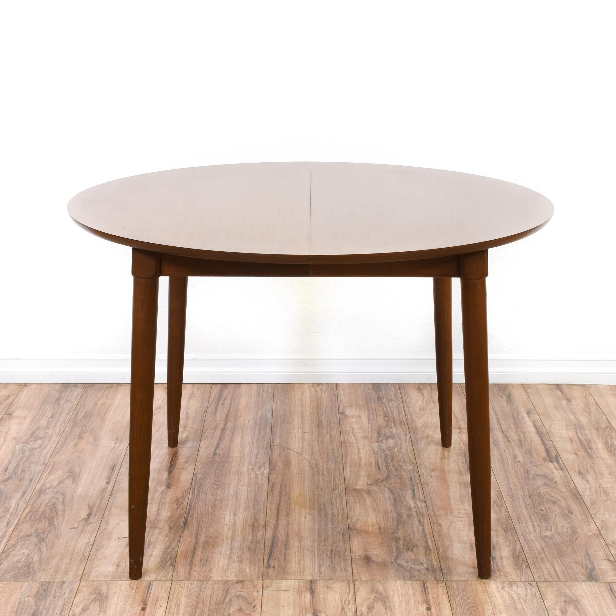Round Mid Century Modern Dining Table W Leaf This Dining Table Is - Mid century modern round kitchen table