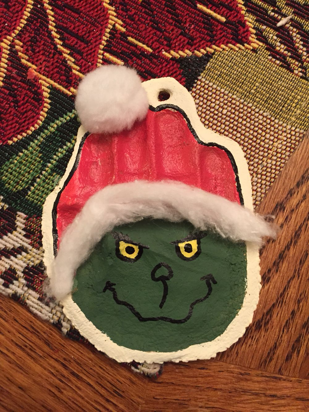 The Grinch Salt Dough Ornament Winter Crafts For Kids Christmas Crafts For Kids To Make Salt Dough Ornaments