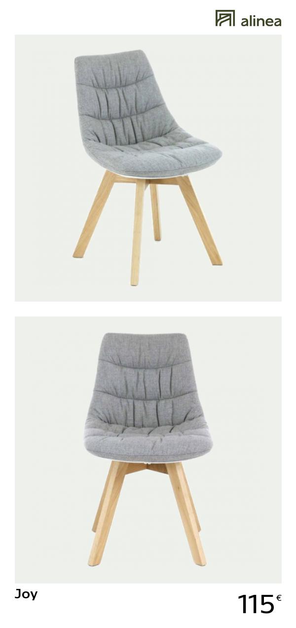 Alinea Joy Chaise Grise Avec Pietement En Bois Design Scandinave Meubles Salle A Manger Et Cuisine Chaises Alinea Decorat Furniture Decor Home Decor