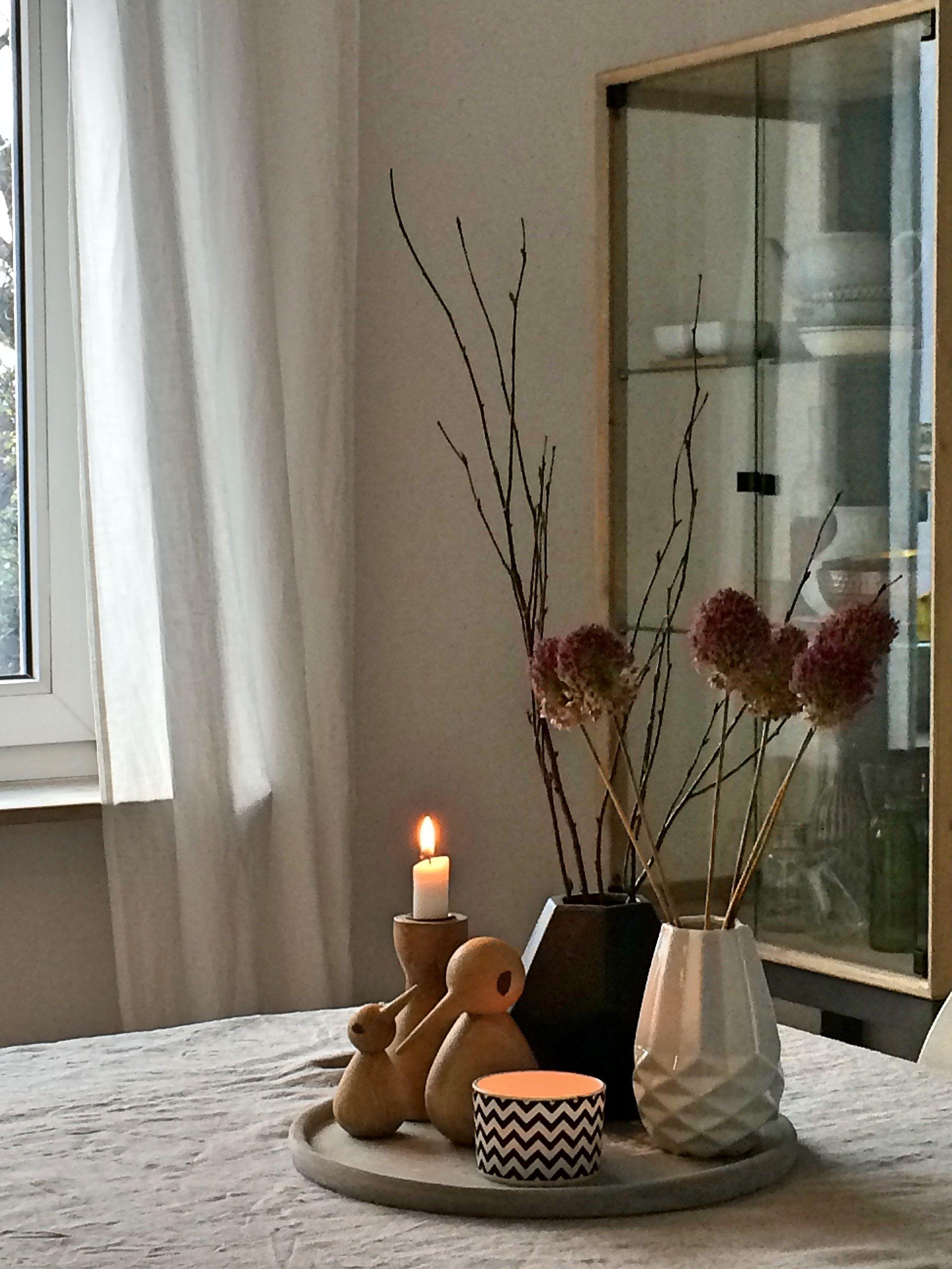 herbstdeko  wohnung dekoration schlafzimmer kerzen