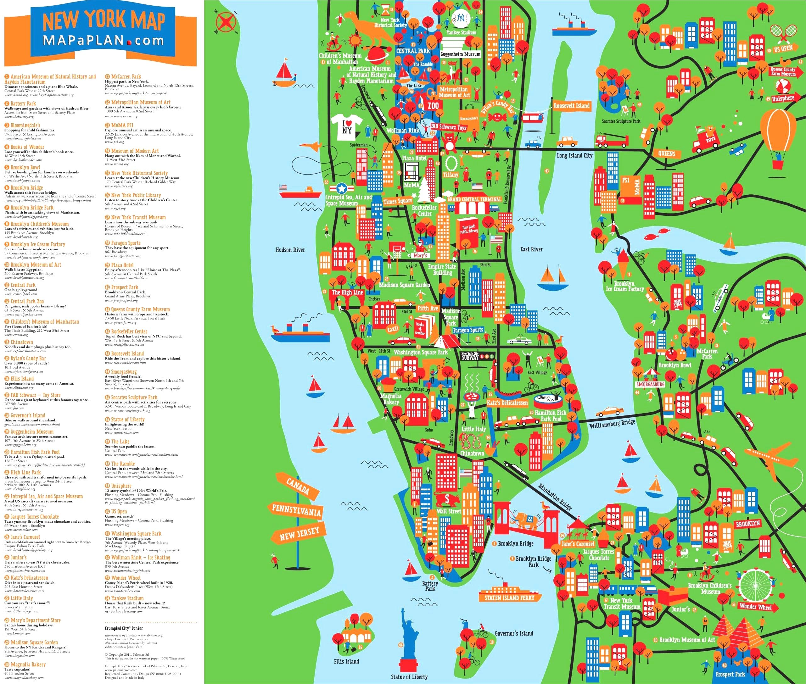 Macy\'s Nyc Map Great Things To Do With Kids Children Interactive Colorful New For