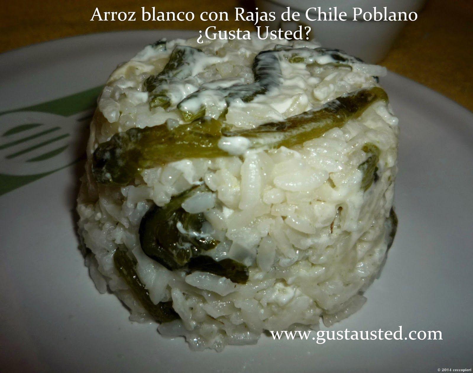Arroz blanco con queso y crema