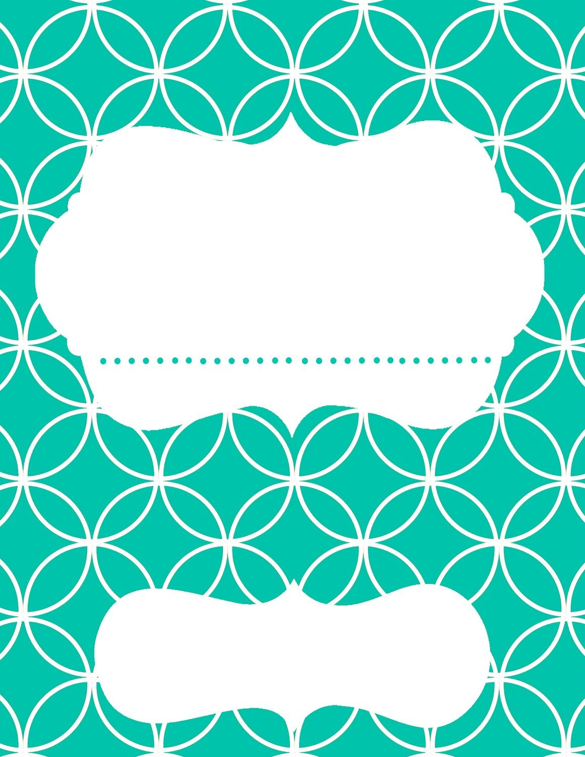 binder cover teal