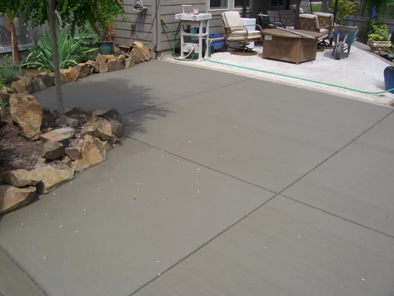 cement patio finishes | broom finish patio addition veneta oregon