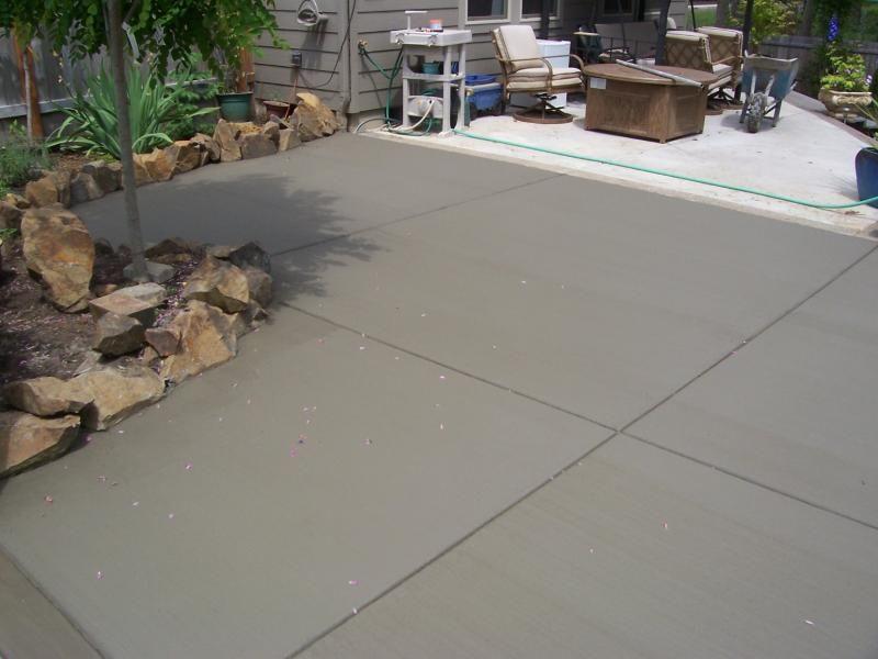 concrete backyard cement patio