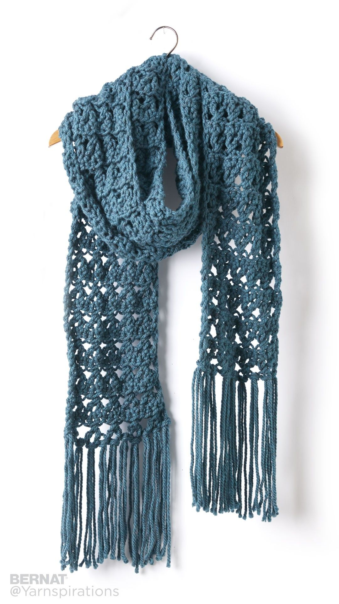 Crossing Paths Crochet Super Scarf - Patterns | Yarnspirations ...