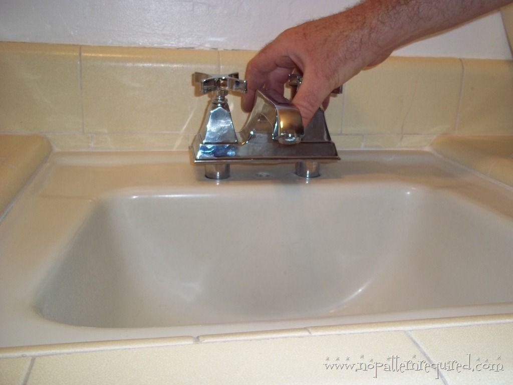 Installing The New Kohler Bathroom Faucet In Mom S 1950s Time