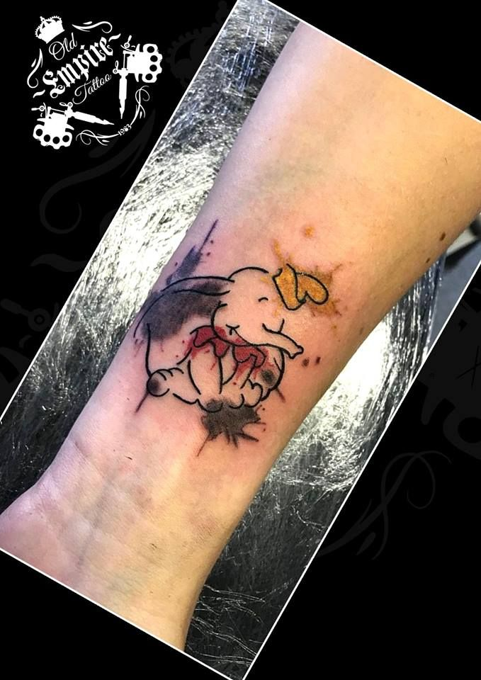 A nice colourful #Disney #Dumbo #Watercolour #Tattoo for this lovely client today #Tattooist #Coils4life #Salford #Littlehulton #OldEmpireTattoo #OET