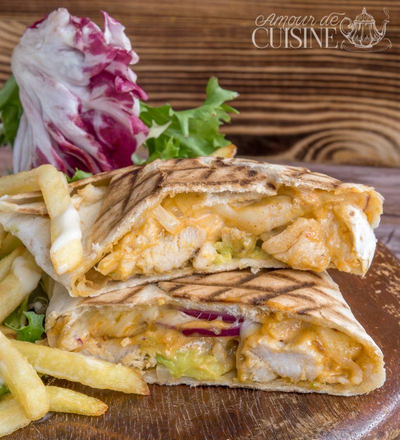 Tacos au poulet à la sauce algérienne