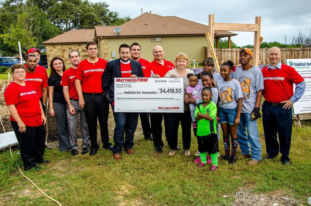 Mattress Firm, Habitat and Garner Family.