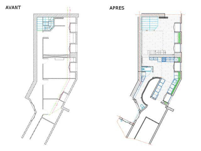 Quatre chambres de bonne et des combles réunis en un appartement ...
