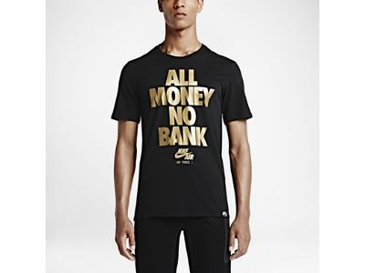 Nike Air Force 1 All Money No Bank Men S T Shirt Black Metallic Gold Mens Tshirts Mens Tops T Shirt